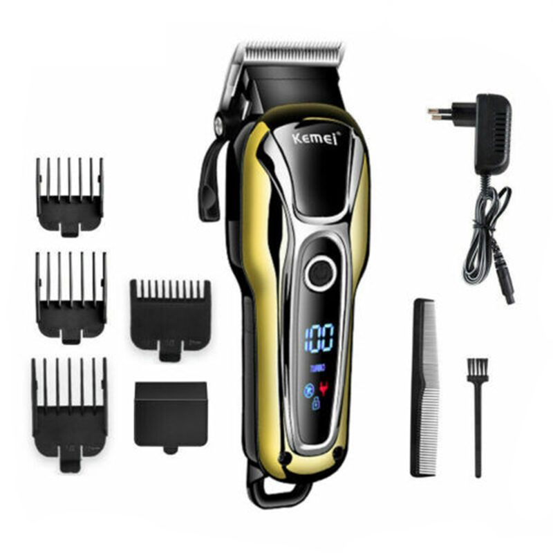 Appliance - Kemei Rechargeable Hair Trimmer Professional Hair Clipper Hair Shaving Machine Hair Cutting Beard Electric Razor