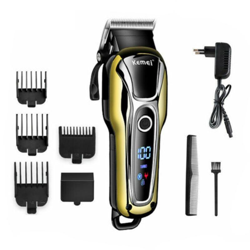 Appliance - Kemei Rechargeable Hair Trimmer Professional Hair Clipper Hair Shaving Machine Hair Cutting Beard Electric Razor