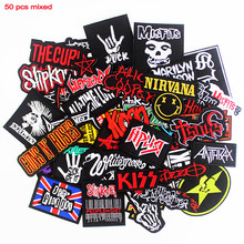 Rock Music Stickers Jeans Jacket Badges Patches-Band Ironing-Cloth Embroidered Punk Applique