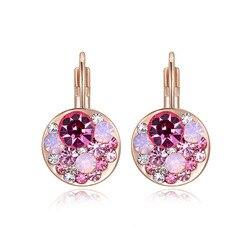 Женские серьги-клипсы AENINE L2020124390, розовое золото, подарок на день рождения