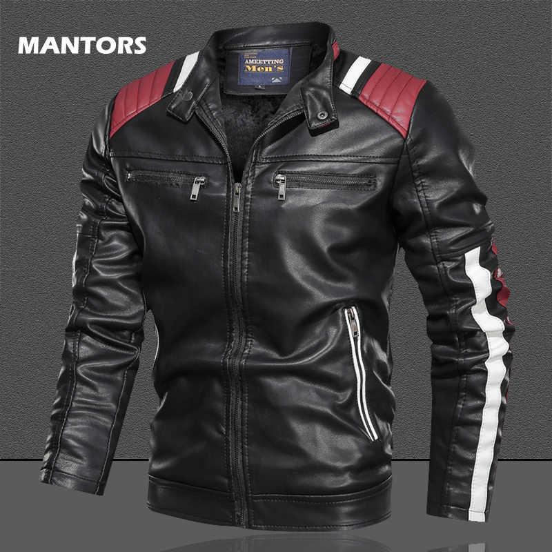 2019 Men/'s PU Leather Slim Fit Casual Jacket Baseball Coat Slim Outwear Overcoat