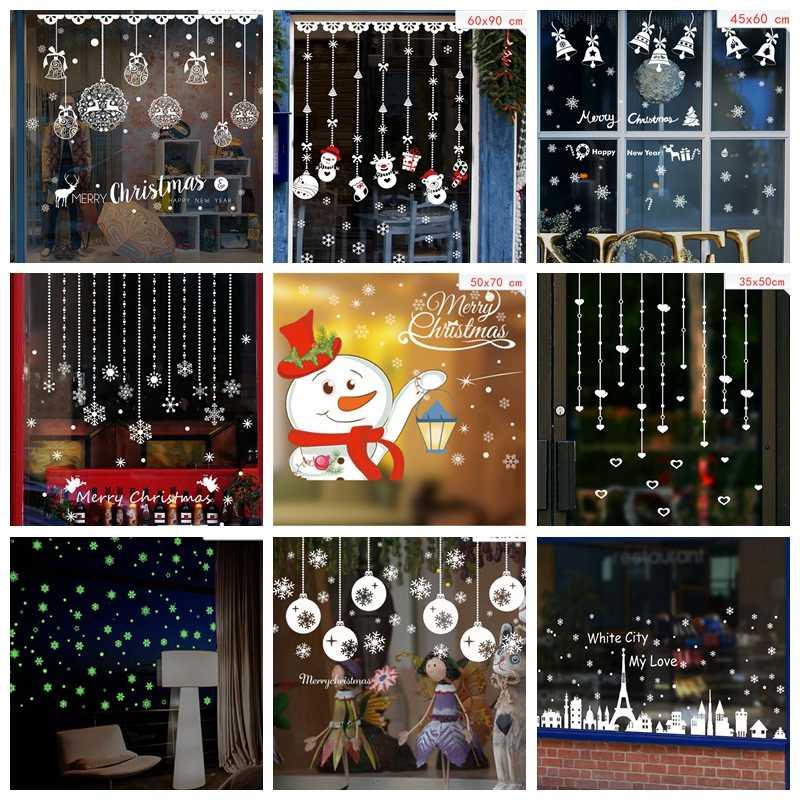 Christmas Party Supplies DIY Wall Stickers Santa Elk
