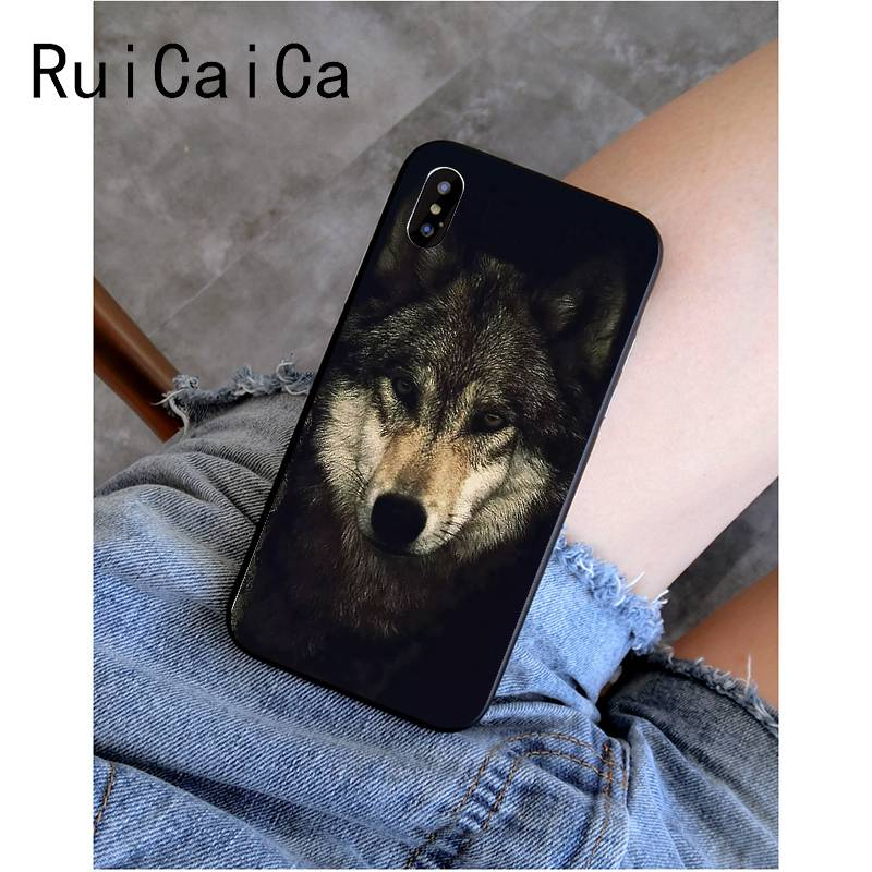 cool wolf face