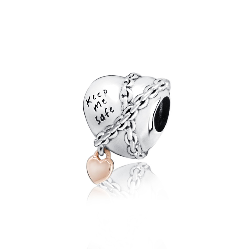 925 Sterling Silver 2019 Club Charm Rose Plated Fit European Bracelet