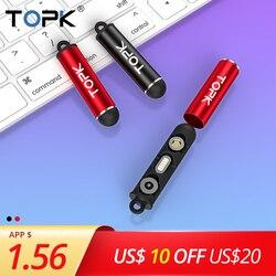 TOPK Портативный Магнитный Вилки коробка Тип C Micro USB C 8-контактный разъем наконечники переходника металлический кейс