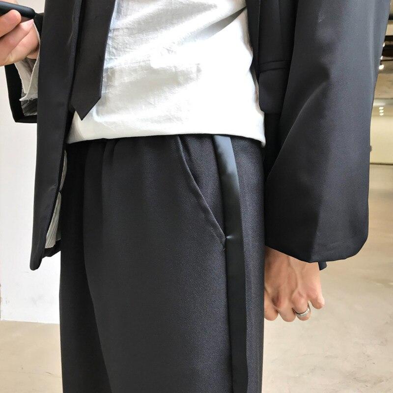 EWQ / men/'s wear 2020 spring summer new wide-leg pants straight trousers loose Korean trend casual pants side strip male 9Y1847