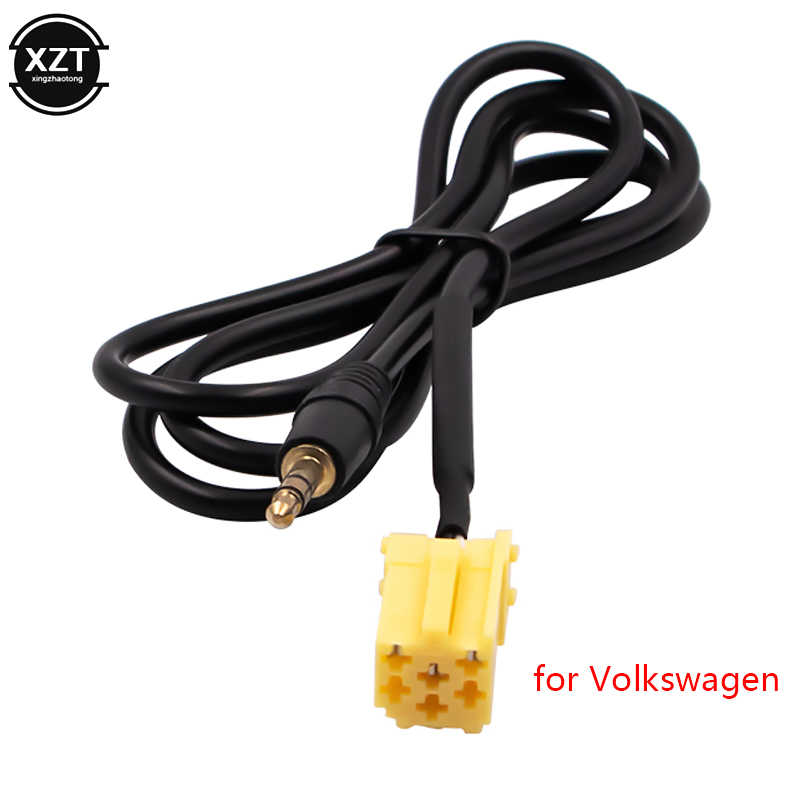 Yellow connector for Fiat Alfa Romeo Lancia high quality auto parts 3.5mm AUX stereo audio line input cable