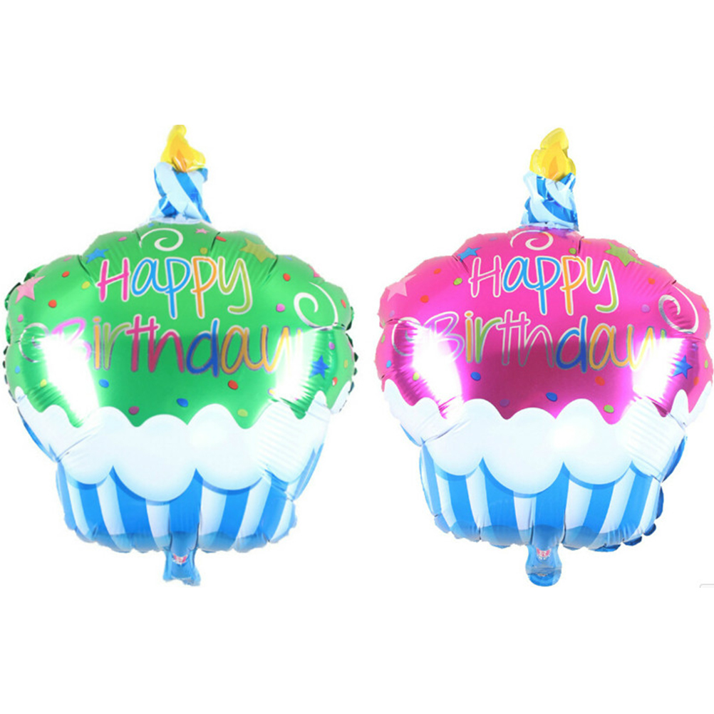 1 PCS Birthday Cake Candle air balls helium Foil Balloons Happy Birthday Party Decorations Kids birthday cake balloons Air Balls
