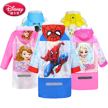 Kids Raincoat Inflatable-Cap Children Cartoon Poncho Girl Mickey Disney Boy Book-Bag