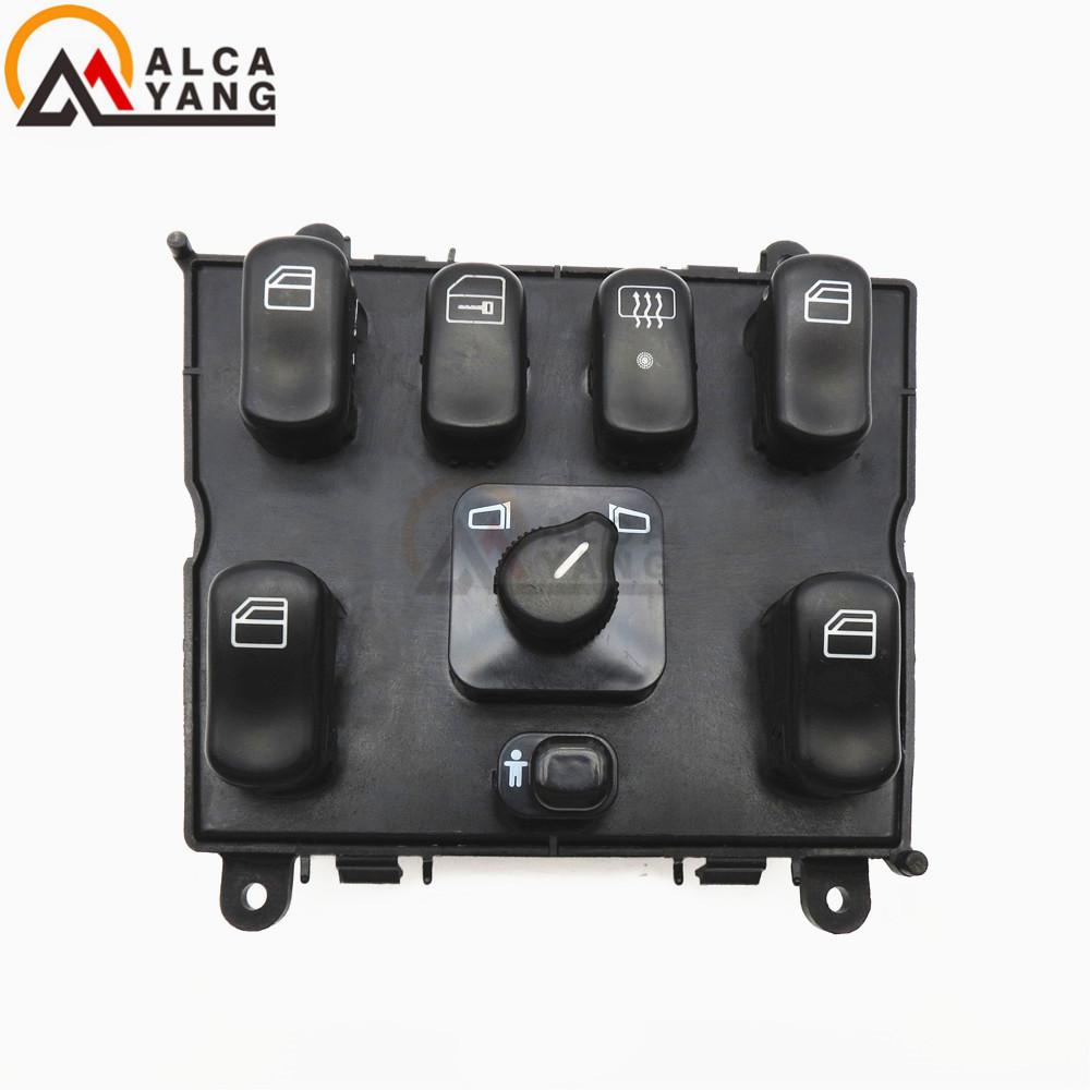 Power Window Switch New Black Front Mercedes ML Class ML320 ML430 1638206610