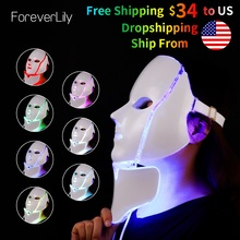 LED Rejuvenation Facial-Mask Photon Salon Neck-Skin Beauty-Treatment Anti-Acne-Wrinkle