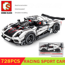 Xmas SEMBO BLOCK Technic Speed Car Koenigsegged Ageraed Building Block Creator Expert Toys для детей рождественские подарки(China)