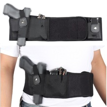 Girdle-Belt Holster Pouch Pistol-Gun Concealed-Carry Belly-Band Elastic Universal Tactical