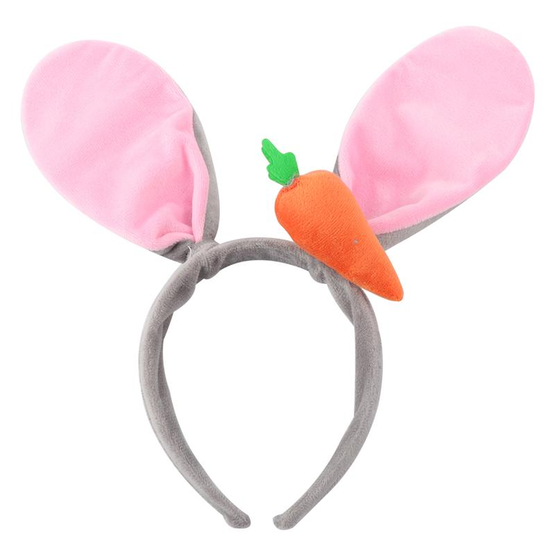 Cute Grils Rabbit Carrot Ears Bunny Hairbands For Birthday Party Costume Cosplay