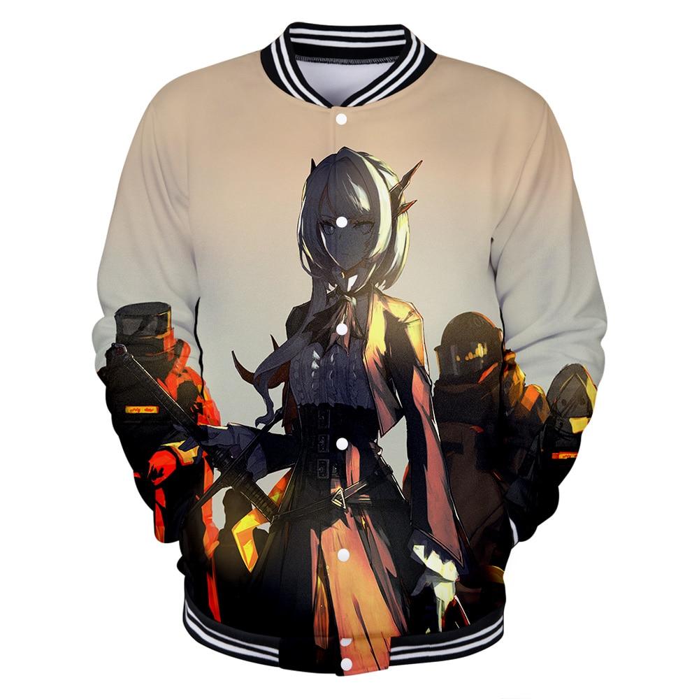 Cross-border hot sale hoodies tomorrow Ark cartoon character Casual 3D baseball uniform jacket