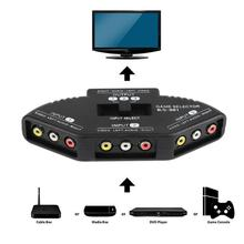 Av-Cable Splitter TV PS2 Rca-Switch Video Audio for STB Dvd-Player 3-To-1 Selector Composite