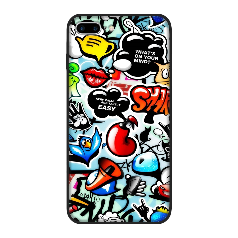 cover iphone 7 sticker bomb