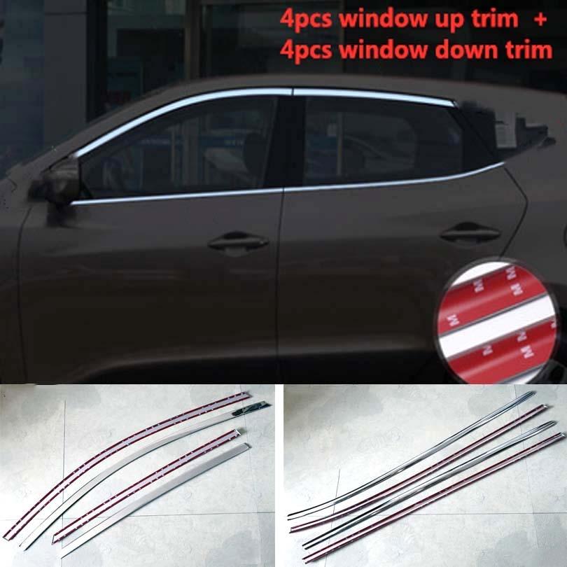 Body Side Mouldings Door Molding Protector Trim 4 pcs Fit Hyundai ix35 2010-2015