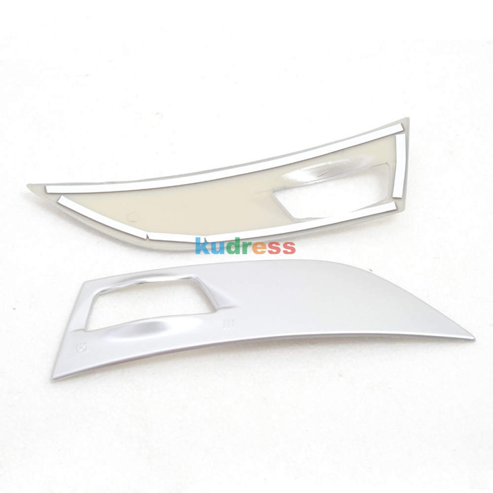 LOVELY Console Air Vent Cover Trim 2pcs Chrome Dashboard Air Vent Outlet Cover Trim Garnish for Ford KUGA ESCAPE 2013 2014 2015 Interior