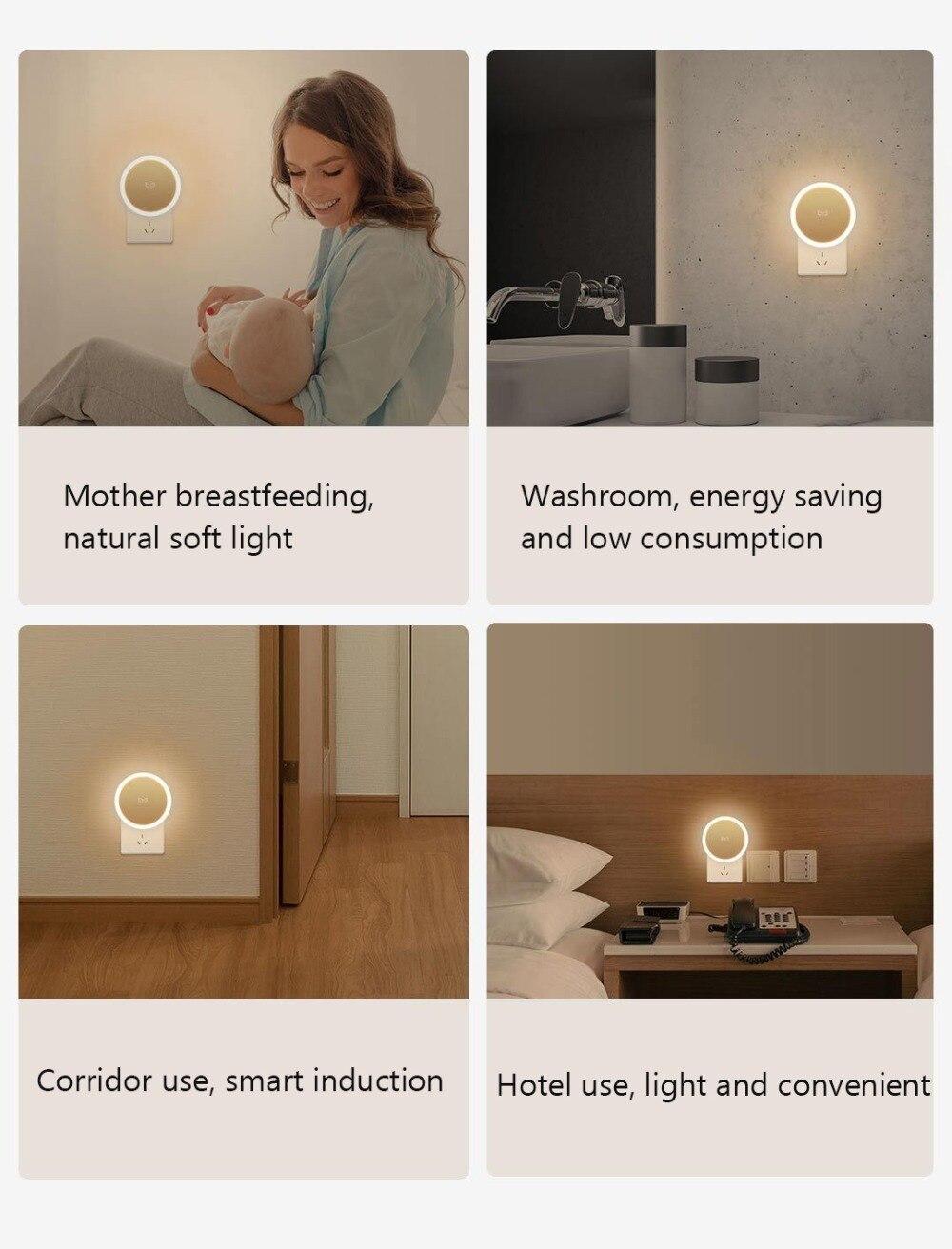 Bundled Sale Xiaomi mijia Yeelight induction night light (plug-in version) YLYD03YL led lamp bed lights for bedroom corridor Wal (9)
