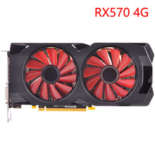 Видеокарта GPU RX 570 4 Гб 256Bit GDDR5 видеокарты для AMD RX 500 series VGA карты RX570 DisplayPort 470 480 580 560 б/у(Китай)