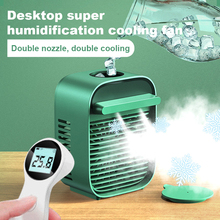 Humidifying Cooling-Cooler Air-Conditioner Small Mini Portable Desktop Usb Charging-Fan