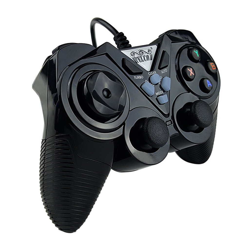 non-vibration USB Double play bursting computer wired game controller game pad