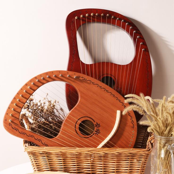 Zwei-Ton Massivholz Körper Neu Hand Lyra Mundharmonika 8 Saiten