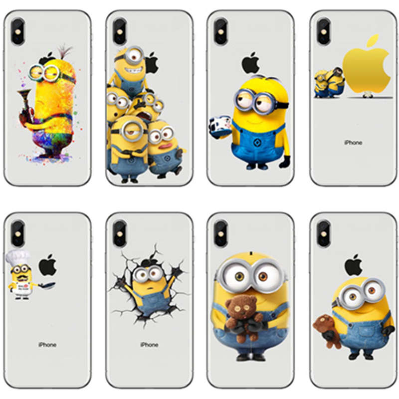 For iphone 7 6 6s 8 plus case Despicable Me Minions Case Cover For iphone XS Max 8 6 5s XR 5 X fundas Soft Clear coque