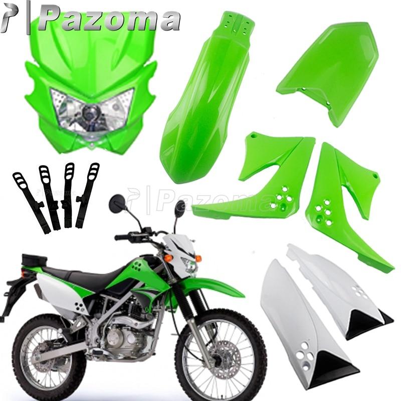 Motorcycle Enduro Headlight Fairing Kit For KAWASAKI KX85 KX250F KX450F KLX125