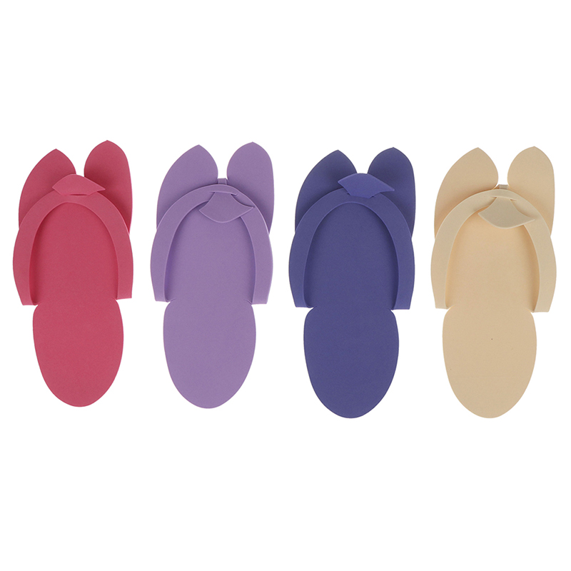 12Pairs Anti-skidding Disposable Flip Flop EVA Foam Slippers For Pedicure Bath Spa Hotel Foot Care Tool Random