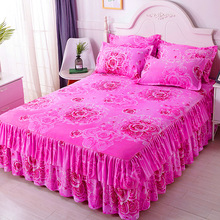 Suit Bedspread Bedding Bed-Skirt 2-Pillowcase Winter Princess Home Simmons Three-Piece