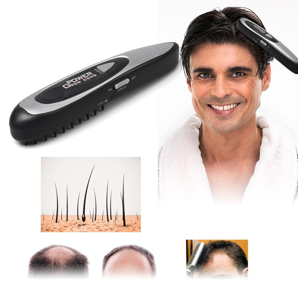Human - LED Electric Hair Growth Comb Hair Brush Hair Loss Stop Regrow Comb Therapy Comb Ozone Infrared Scalp Massager