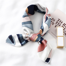 Scarf Women Shawl Bandana Foulard Hand-Kerchief Square Silk Print Small Fashion Lady