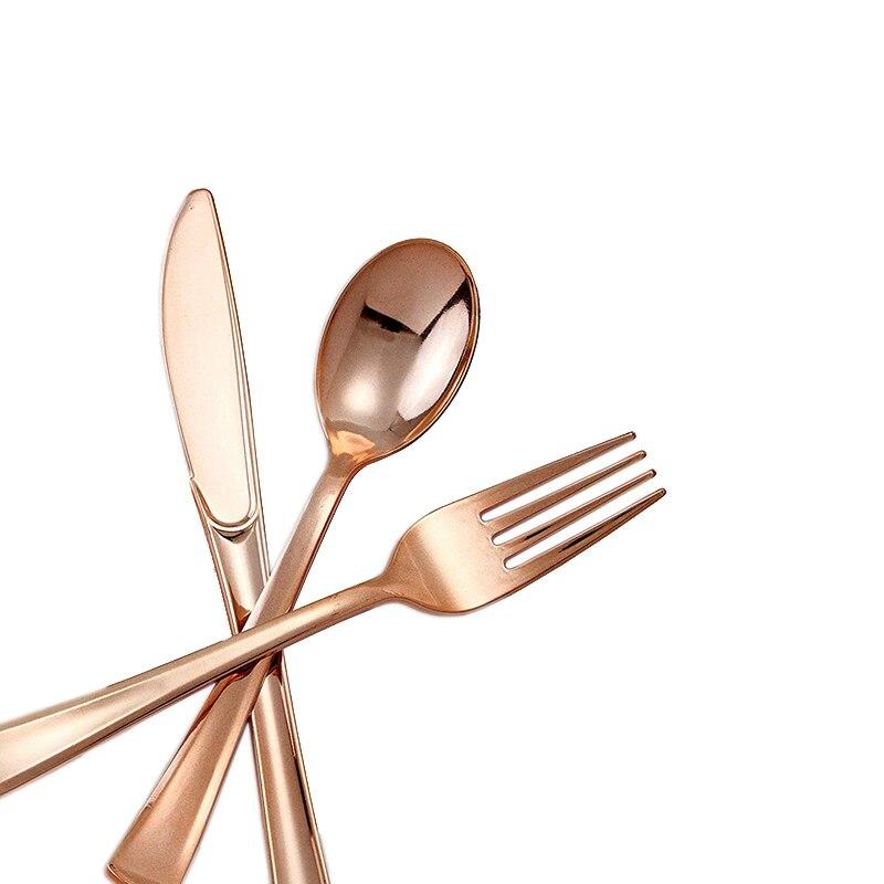Rose gold Dinnerware set (3)