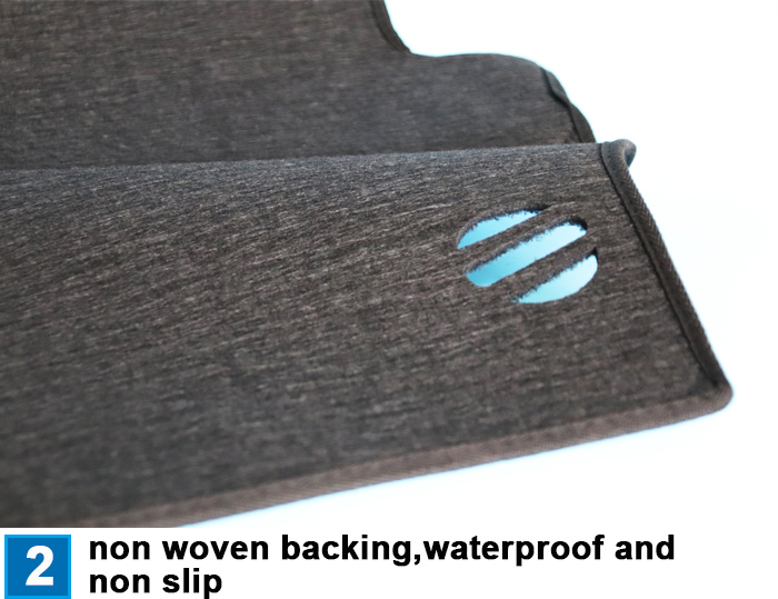 Factory supply polyester car non-slip dashboard mat from shandong