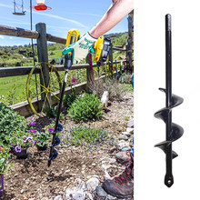 Grondboor Garden Planter Spiral Drill Bit Flower Bulb Hex Shaft Auger Yard Gardening Bedding Planting Post Hole Digger Tools(China)