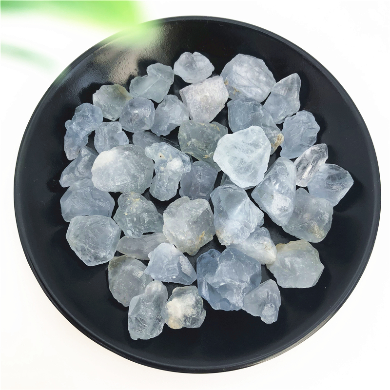 Natural White Celestite Celestine Faceted Rondelle Gemstone Beads 6 Pieces