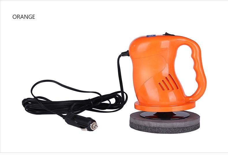 Black Wakauto Electric Car Polisher Machine 12V Auto Polishing Machine Sanding Waxing Tools Car Accessories