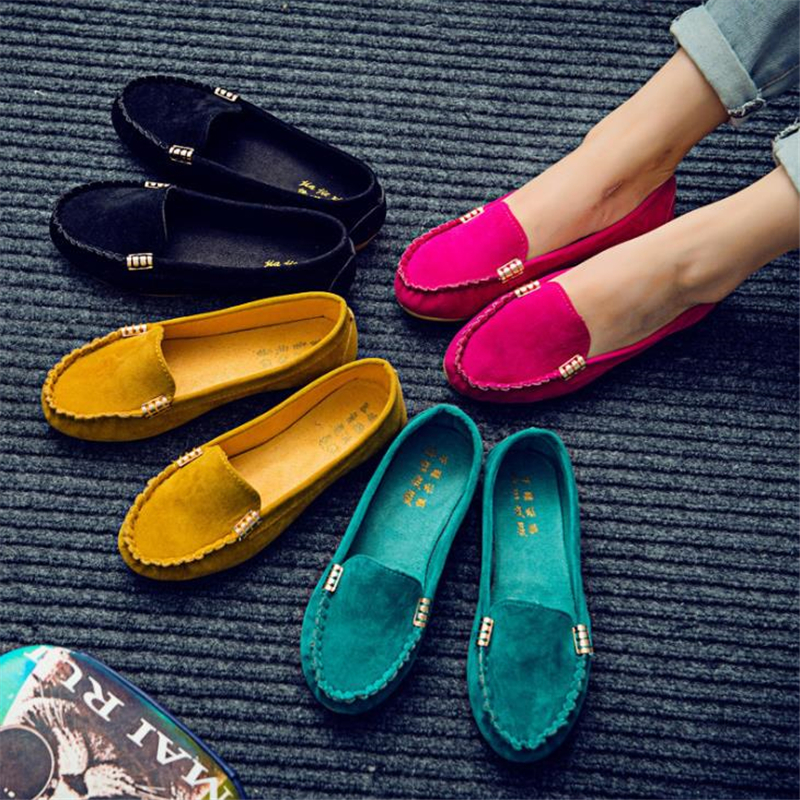 Casual Flat Shoes Spring Autumn Flat Women Shoes Slips Soft Round Toe Plus Size Denim Flats Jeans Shoes
