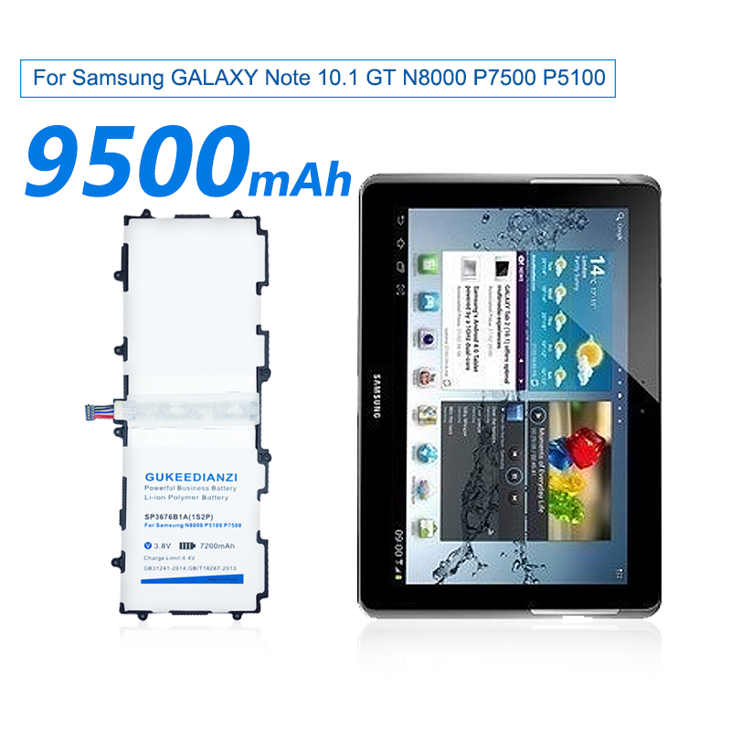 Tesurty SP3676B1A 1S2P Replacement Battery for Samsung Galaxy Tab 10.1 P7500 P7510 GT-P5100 P5110 GT-N8000 GT-N8010 GT-N8013 with Tools