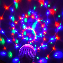 LED Light Stage Light RGB 6W E27 Colorful Magic Crystal Ball for DJ Disco Party KTV Dance