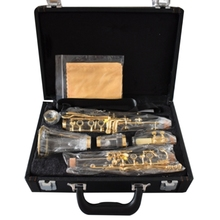 Clarinet Musical Instrument Transparent Body Gold-Plated Bb Clarinet