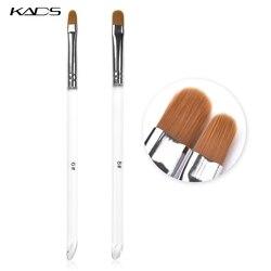 KADS кисть для дизайна ногтей с круглой головкой УФ гель для ногтей советы для наращивания прозрачная ручка Профессиональный инструмент для ...
