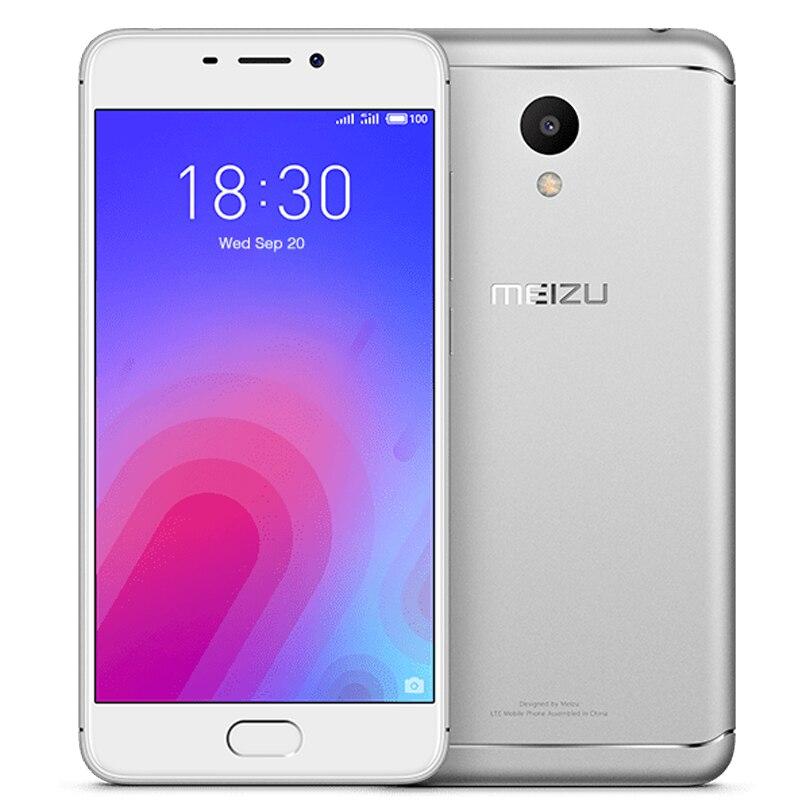 Оригинальный мобильный телефон Meizu M6, глобальная версия, 2 ГБ 16 ГБ, восьмиядерный процессор MTK6750, HD экран 5,2 дюйма, тыловая камера 13 Мп, 3070 мАч, сканер отпечатка пальца