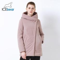 ICEbear 2019 осень Новая женская куртка ветрозащитная теплая короткая куртка на молнии дизайн Высокое качество Женская одежда GWC19508I