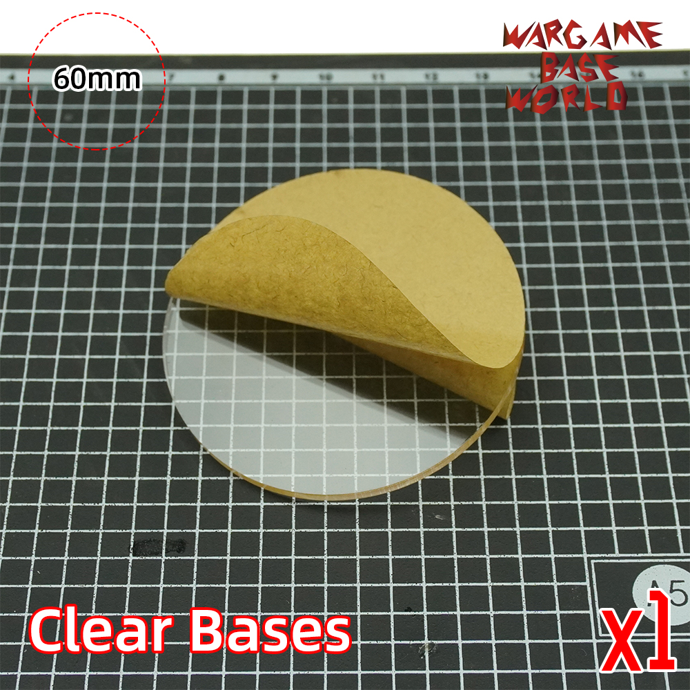 TRANSPARENT / CLEAR BASES for Miniatures - 60mm round clear bases