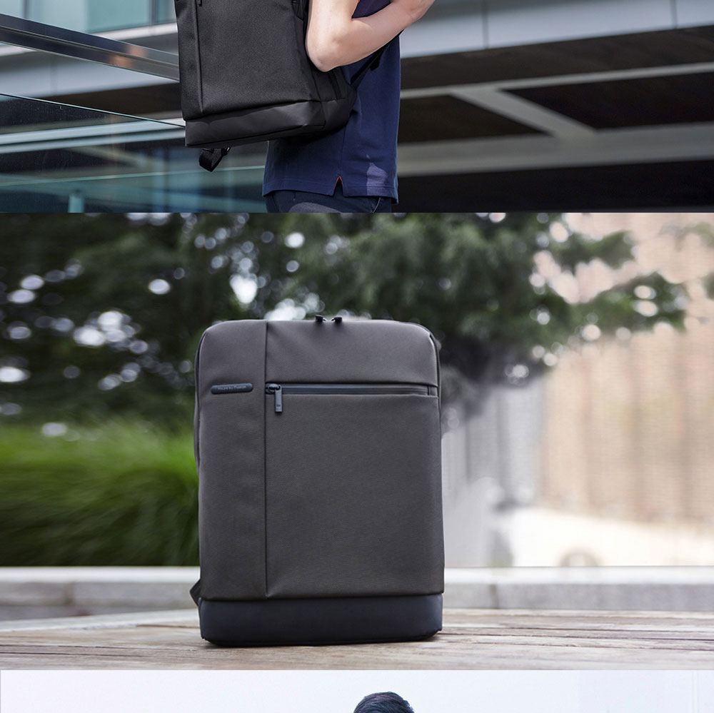 Original Xiaomi Backpack Classic Business Backpacks 17L Capacity Students  Laptop  Men Women Bag  For 15-inch Laptop OK (2)