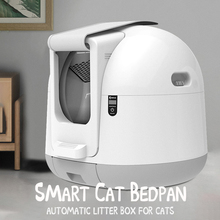 Cat-Litter-Box Pet-Product Sand Toilet-Training Gato Automatic Closed Arenero PETJC Inodoro