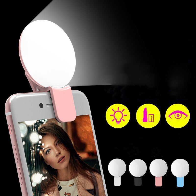 Ring-Light Usb-Clip Flash Led Mobile-Phone Selfie Night-Photography Portable Samsung title=